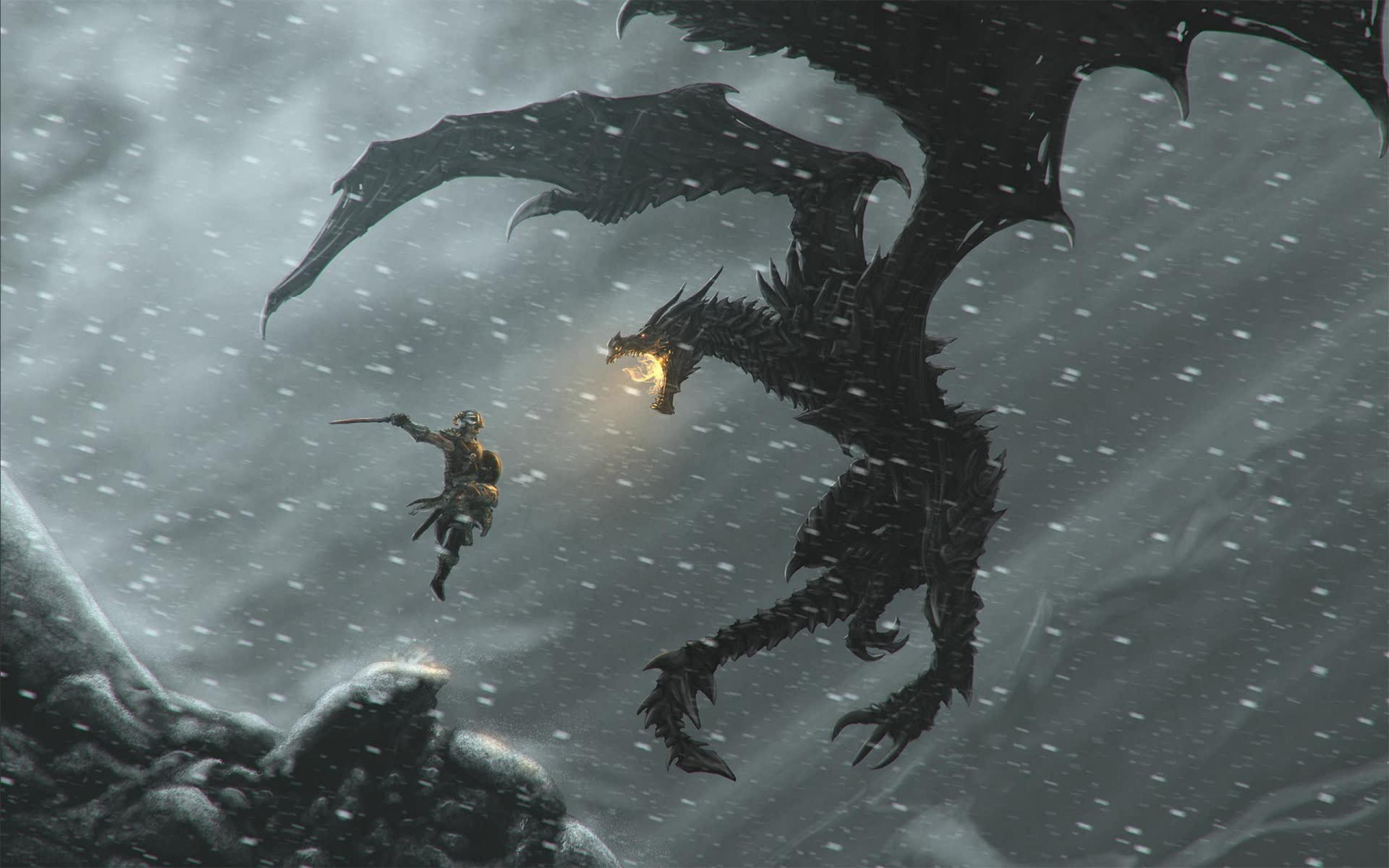 Skyrim Dragon Wallpapers - Top Free Skyrim Dragon Backgrounds -  WallpaperAccess