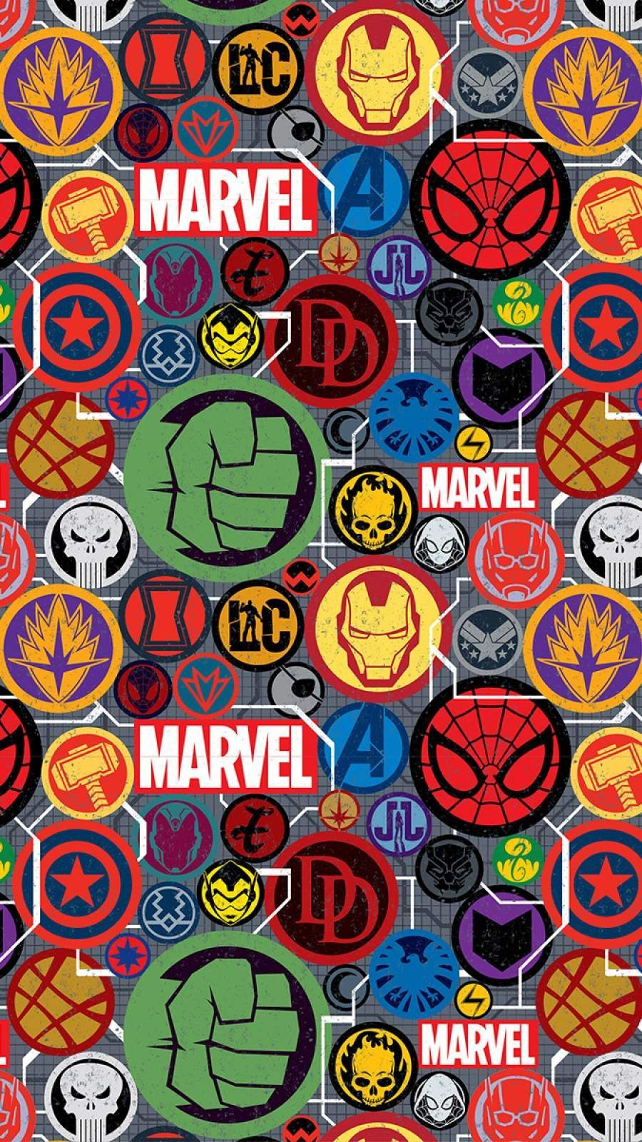 Marvel Pattern Wallpapers Top Free Marvel Pattern Backgrounds Wallpaperaccess