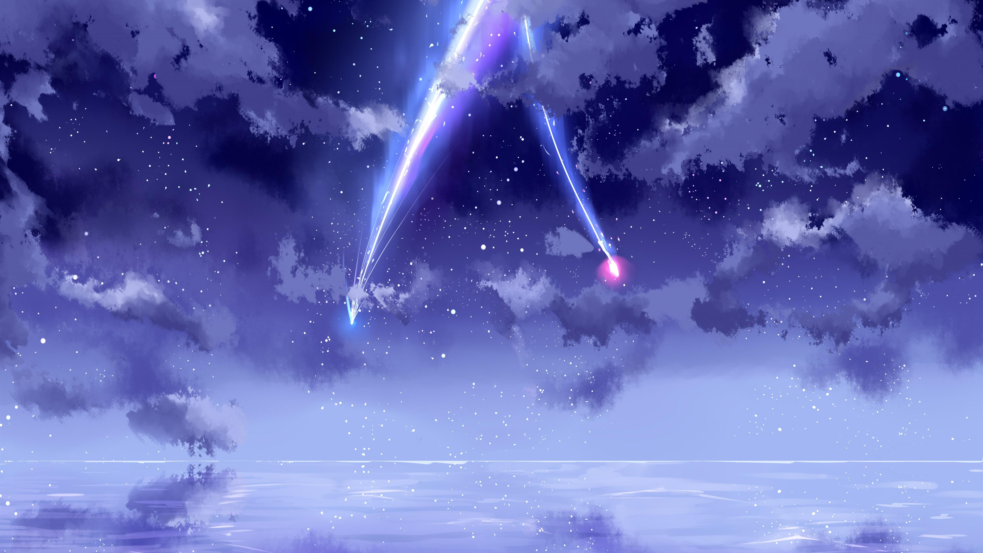 Purple Anime Sky Wallpapers Top Free Purple Anime Sky Backgrounds Wallpaperaccess