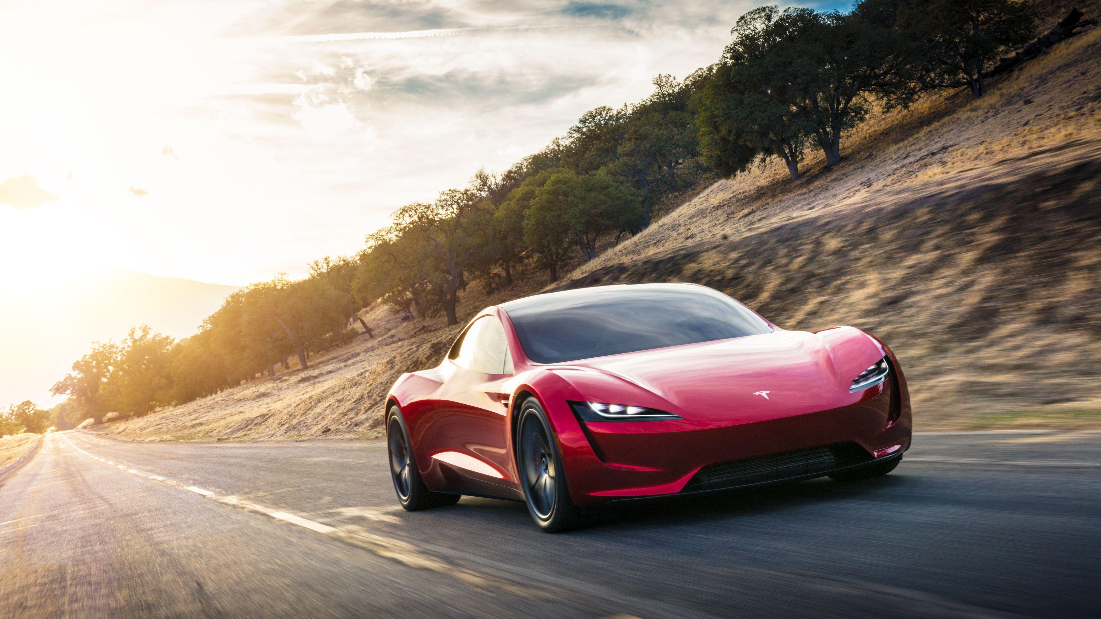 Tesla Roadster Wallpapers Top Free Tesla Roadster Backgrounds Wallpaperaccess