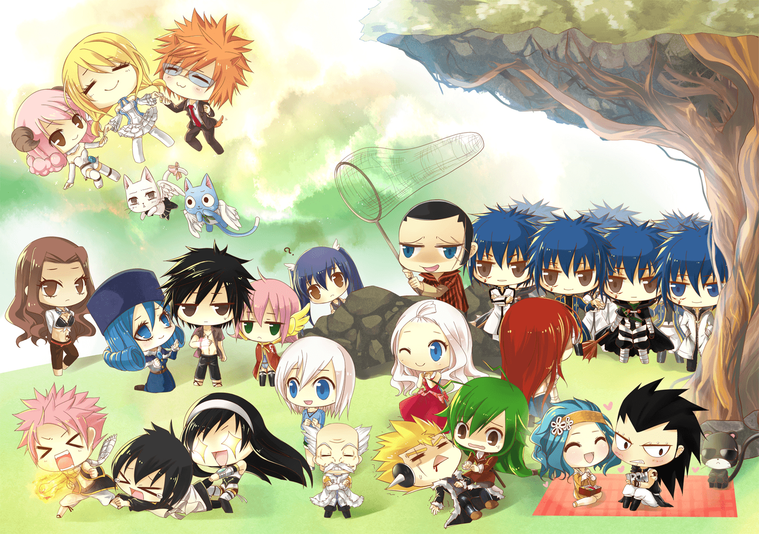 Chibi Fairy Tail Anime Wallpapers Top Free Chibi Fairy Tail Anime Backgrounds Wallpaperaccess