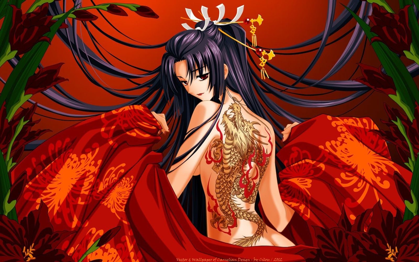 Naked anime girl dragon being sexy wallpaper Anime Girl Tattoo Wallpapers Top Free Anime Girl Tattoo Backgrounds Wallpaperaccess