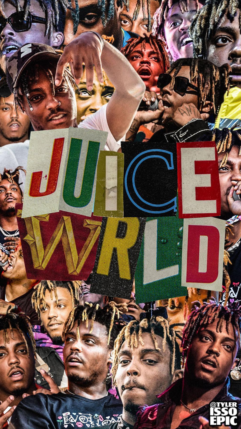 Hình nền ghép ảnh 1024x1820 Juice WRLD do tôi tạo ra để tưởng nhớ đến Juice WRLD