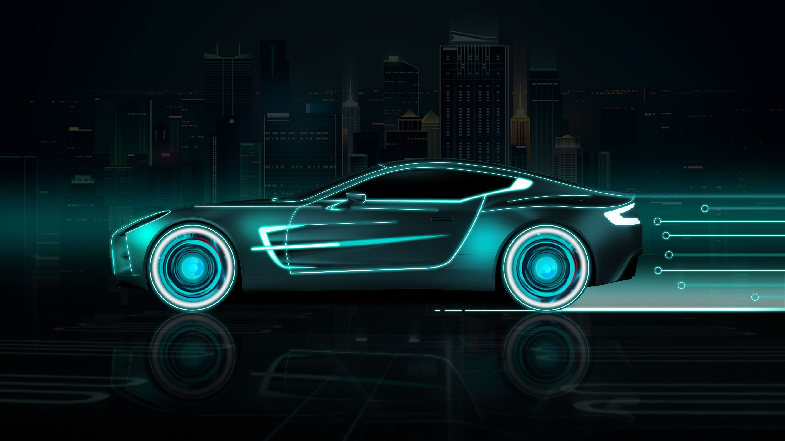 Neon Sports Cars Wallpapers Top Free Neon Sports Cars Backgrounds Wallpaperaccess