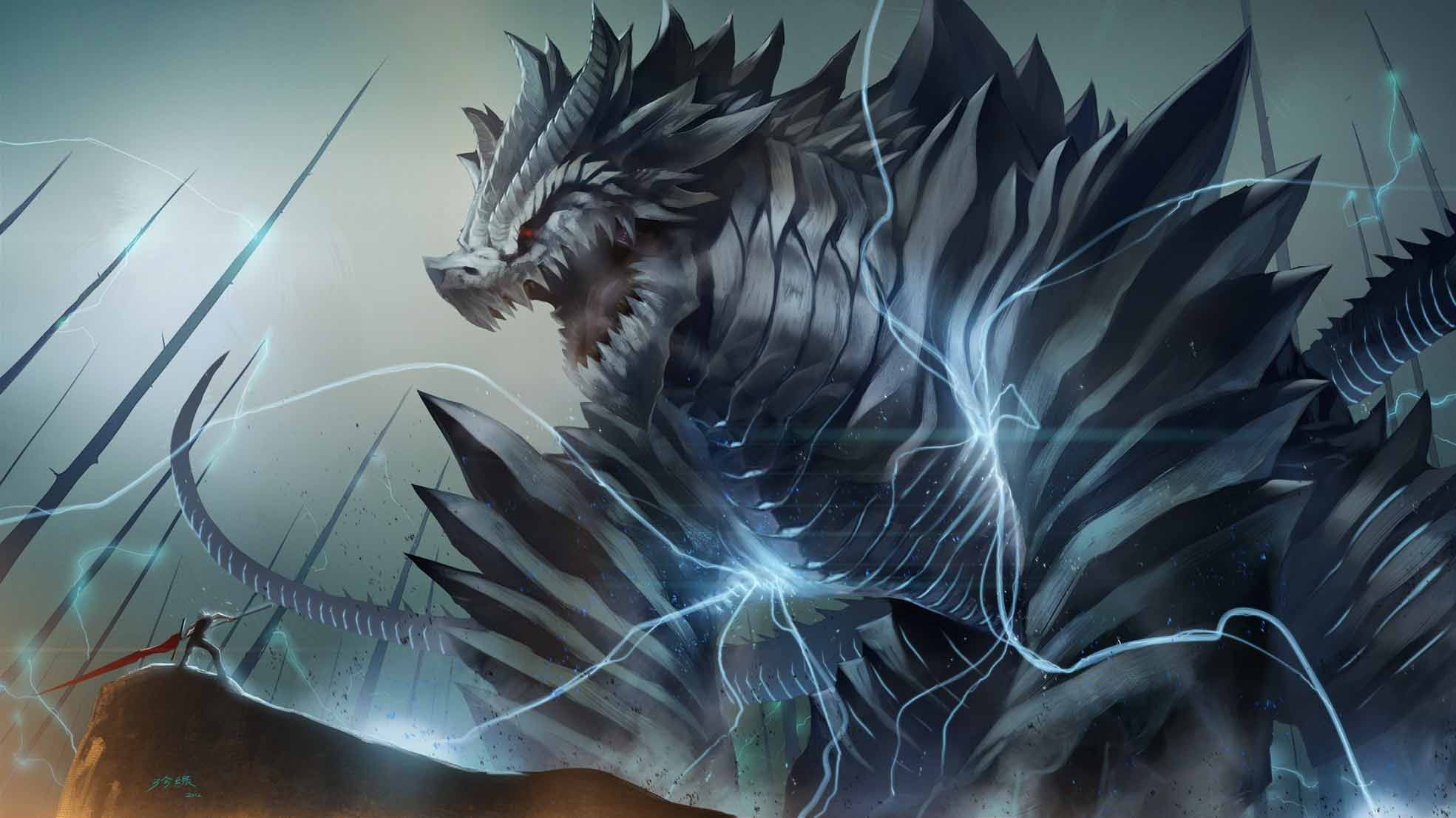 Lightning Dragon Wallpapers Top Free Lightning Dragon Backgrounds Wallpaperaccess