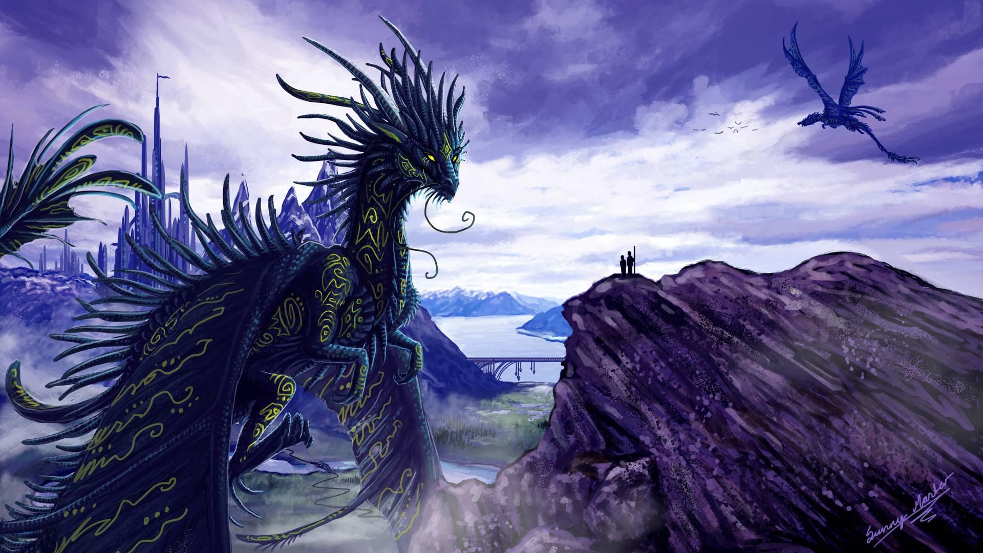 Purple Dragon Wallpapers Top Free Purple Dragon Backgrounds Wallpaperaccess