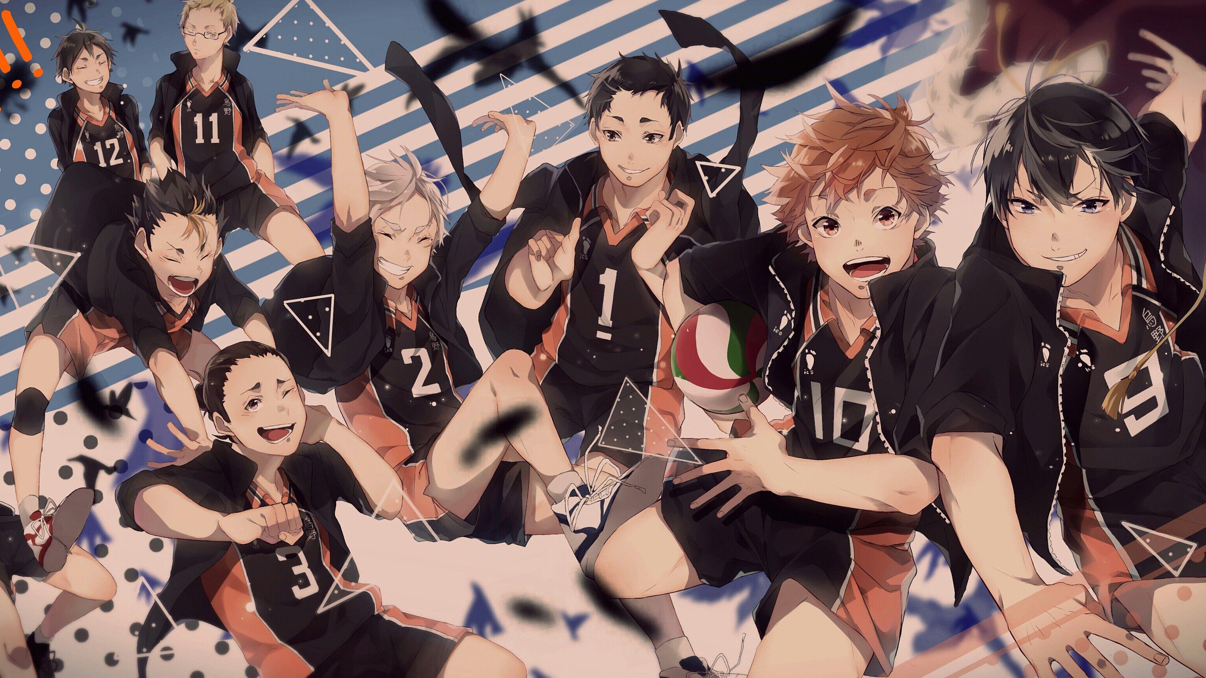 3840x2160 Haikyu Yu Nishinoya và những người chơi khác Hình nền Anime HD 4K.  Hình nền HD