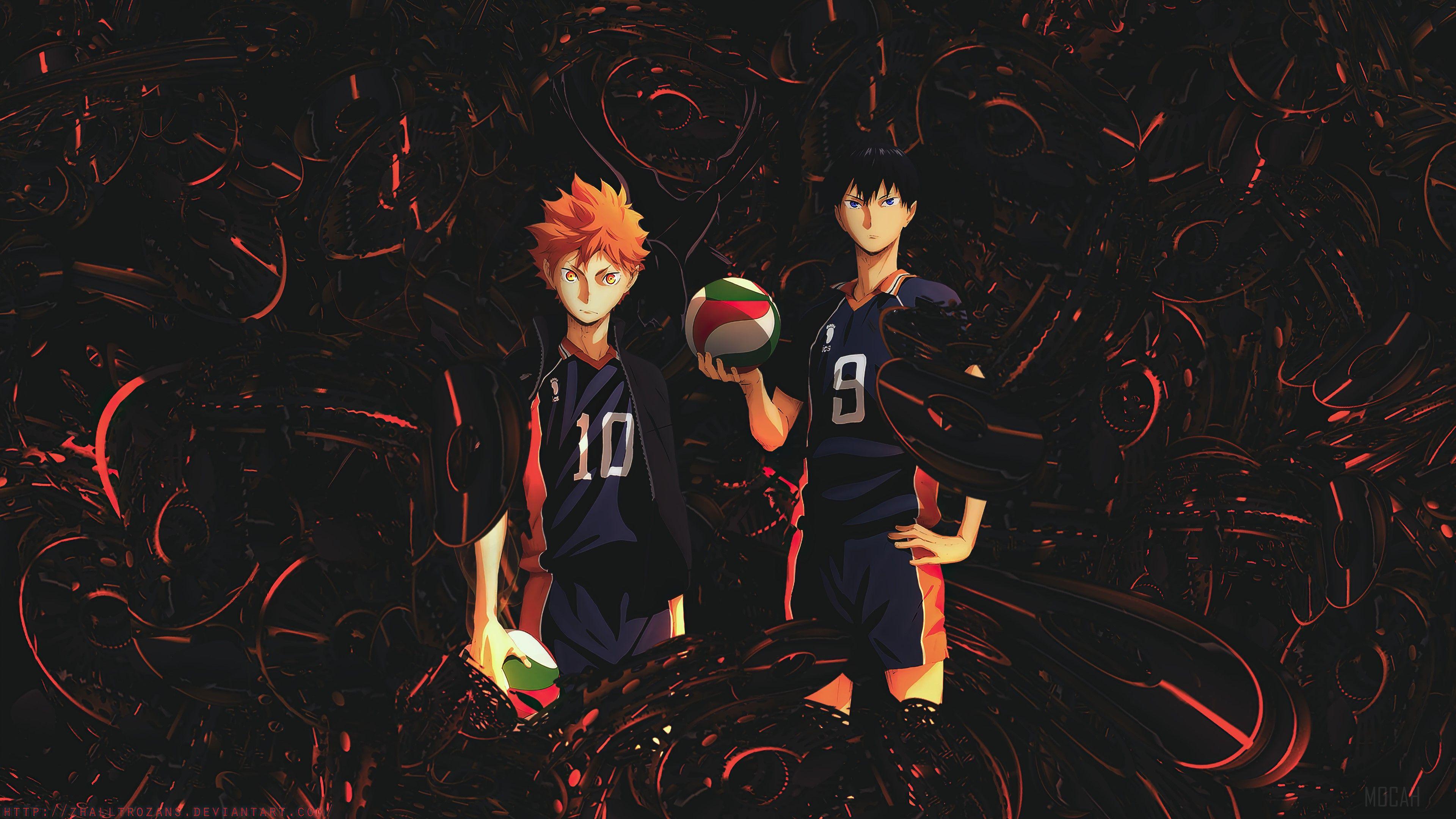3840x2160 Haikyuu, Anime, Shoyo Hinata, Tobio Kageyama hình nền 4k