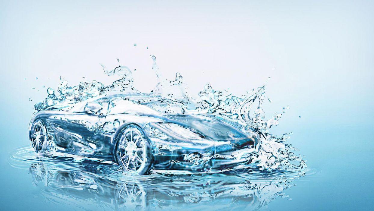 Hình nền nghệ thuật ô tô nước 1244x700.  1920x1080