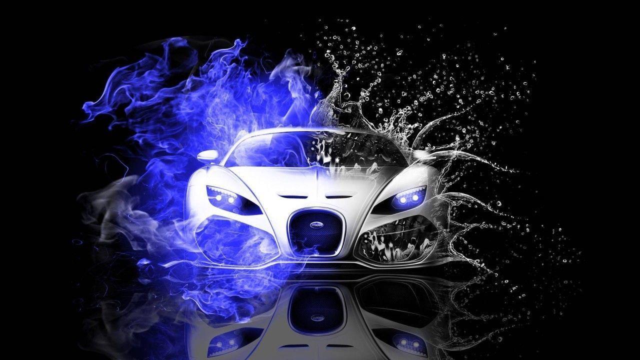 Hình nền Bugatti Veyron Fire Water 1280x720.  Hình nền Bugatti, Hình nền xe thể thao, Hình nền xe hơi