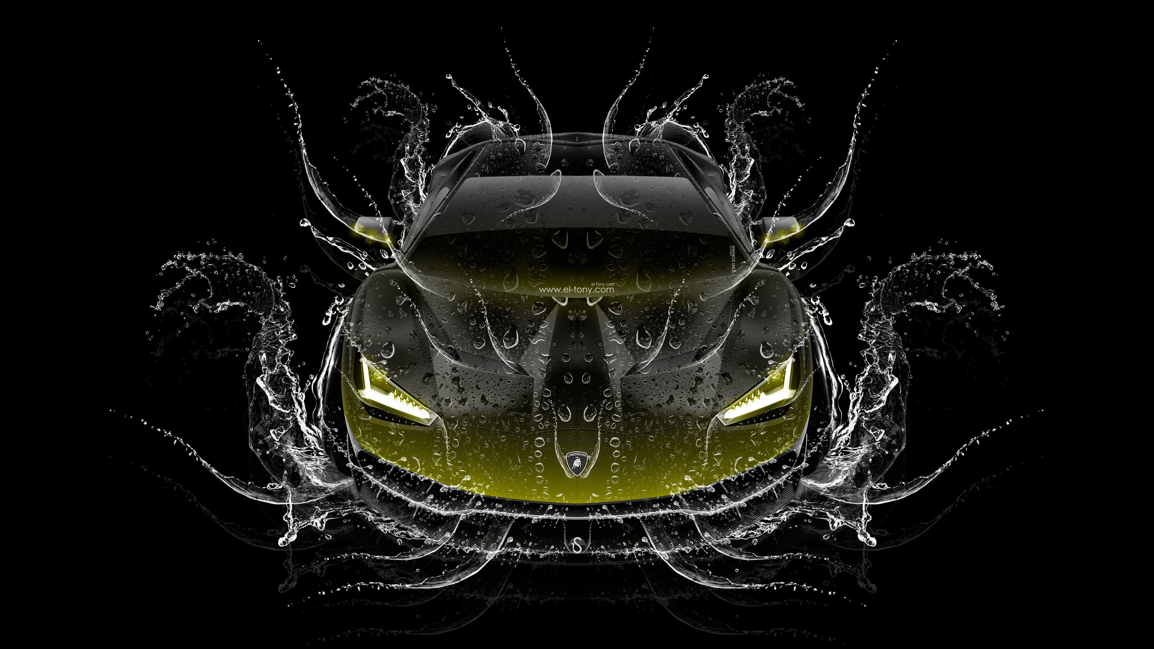 3840x2160 Lamborghini Centenario FrontUp Super Water Car 2016 Hình nền 4K el Tony.  el Tony
