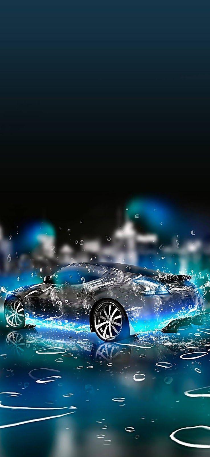 Mô hình 4K 738x1600 Chiếc xe đang ở trong nước.  Hình nền điện thoại.  Hình nền ô tô, Hình nền máy tính, Hình nền máy tính xách tay Hình nền máy tính
