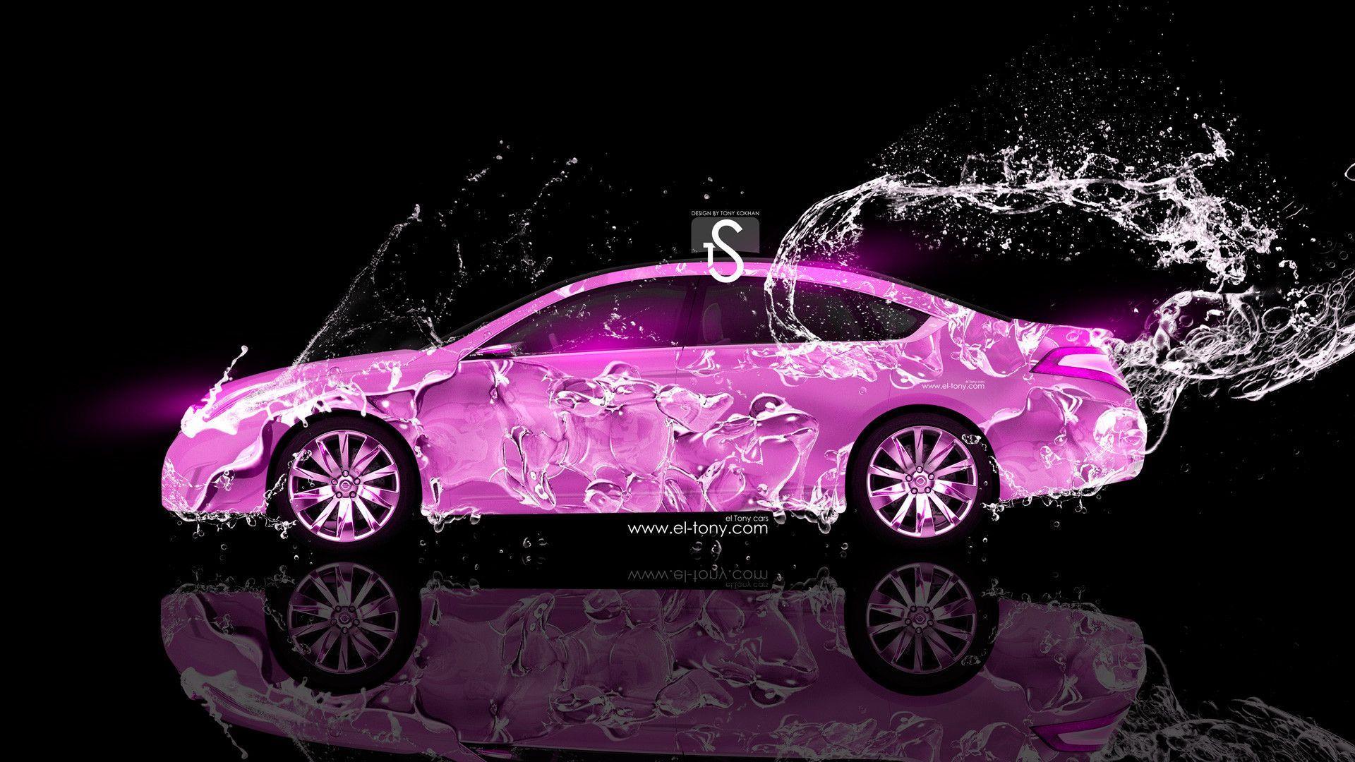 Hình nền xe hơi màu hồng 1920x1080