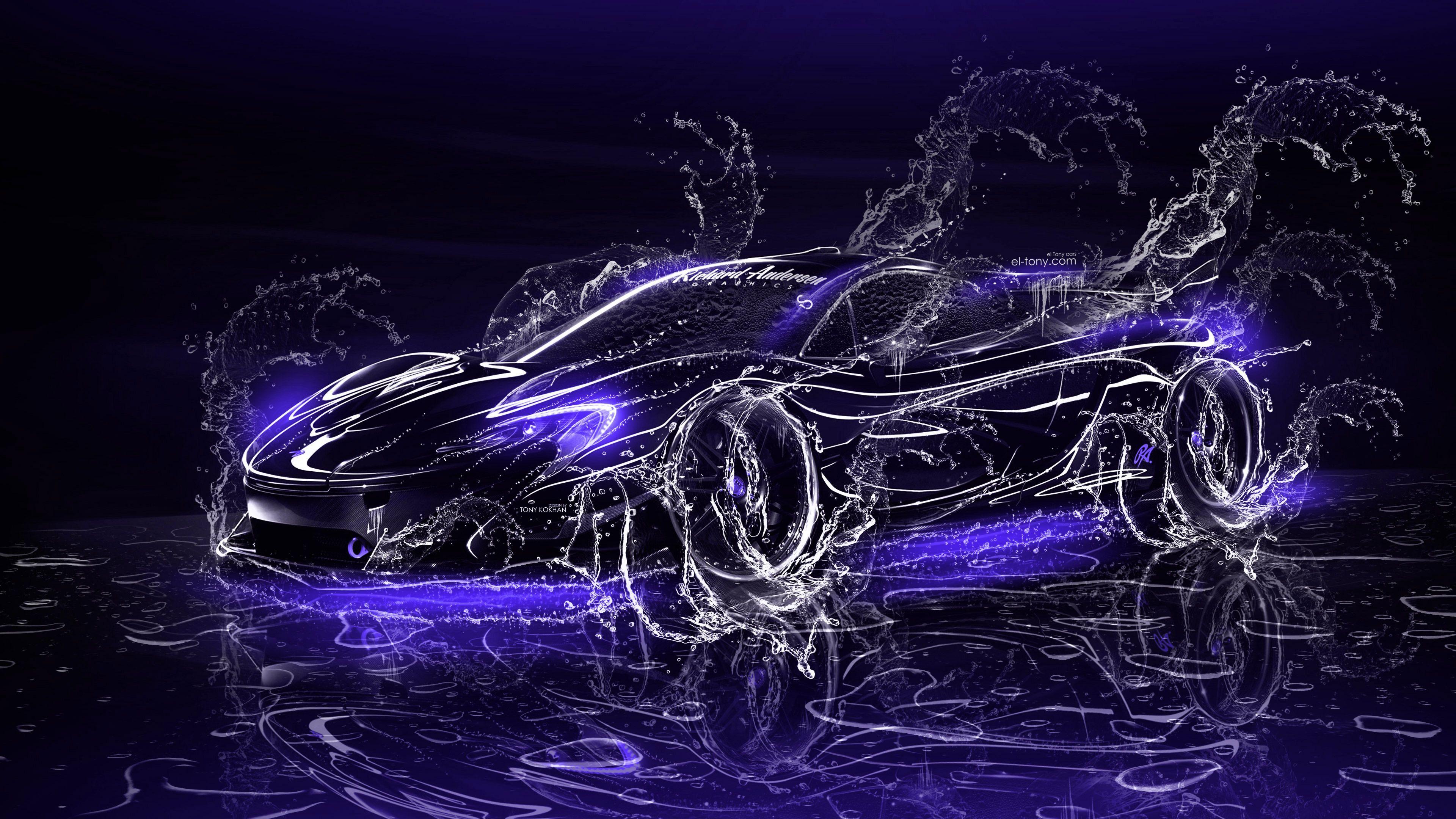 Hình nền 3D 3840x2160 Ô tô và Xe đạp