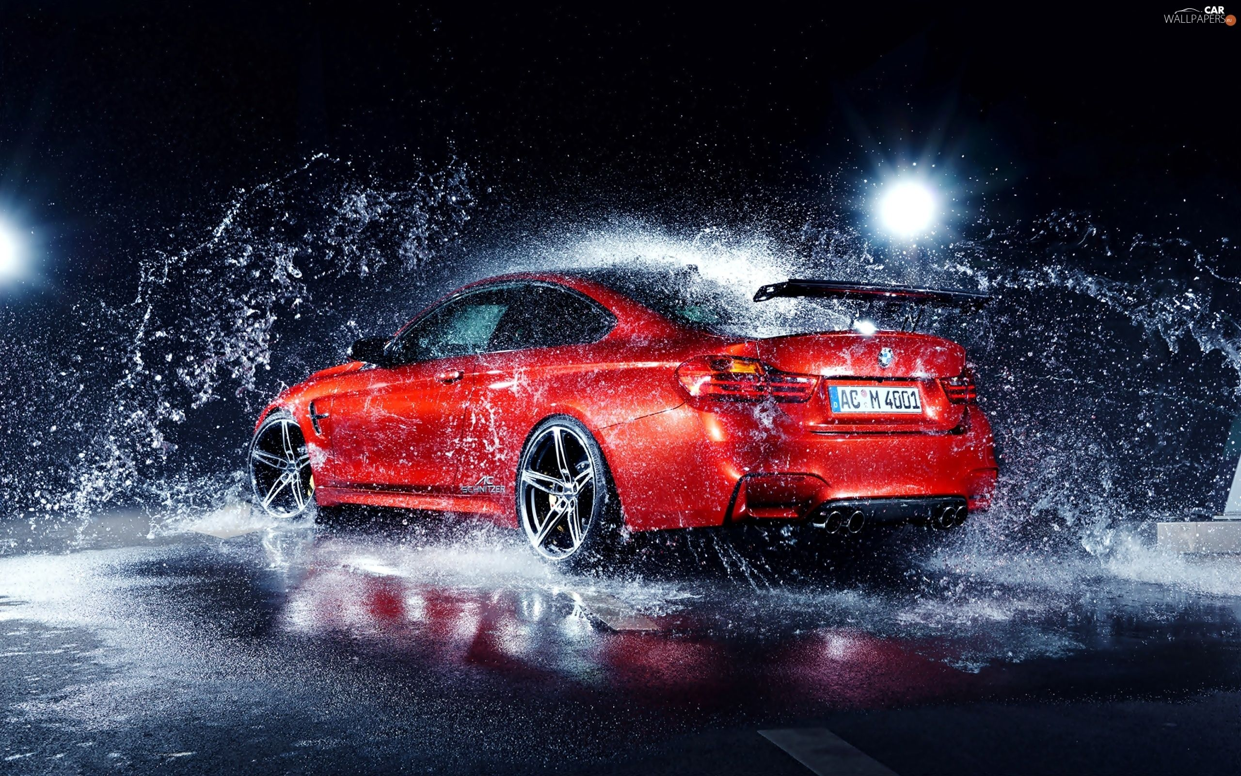 2560x1600 M4, Ô tô, giọt nước, BMW, Đỏ, Nước, Giật gân - Hình nền ô tô: 2560x1600