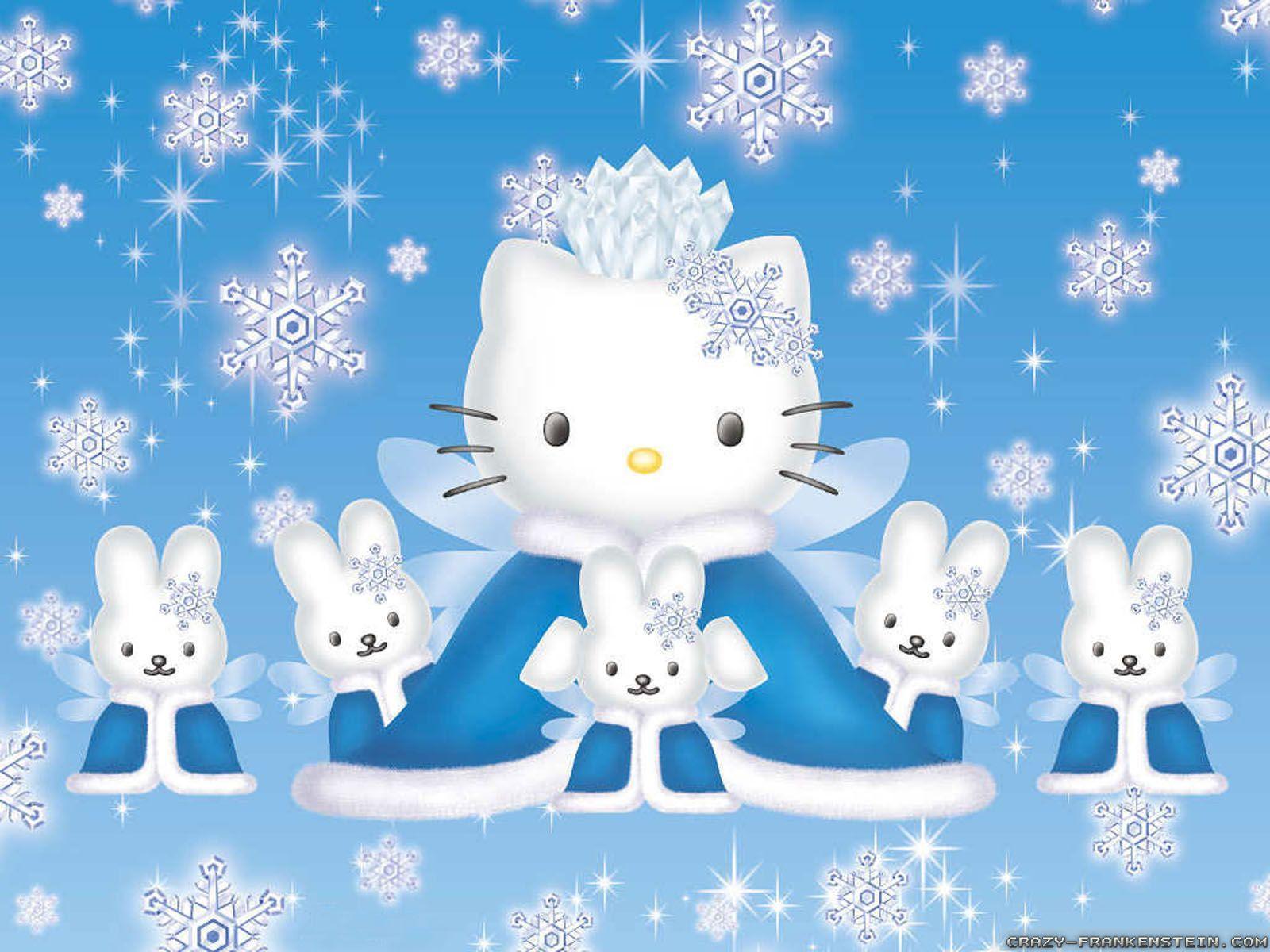 Hello Kitty Winter Wallpapers Top Free Hello Kitty Winter