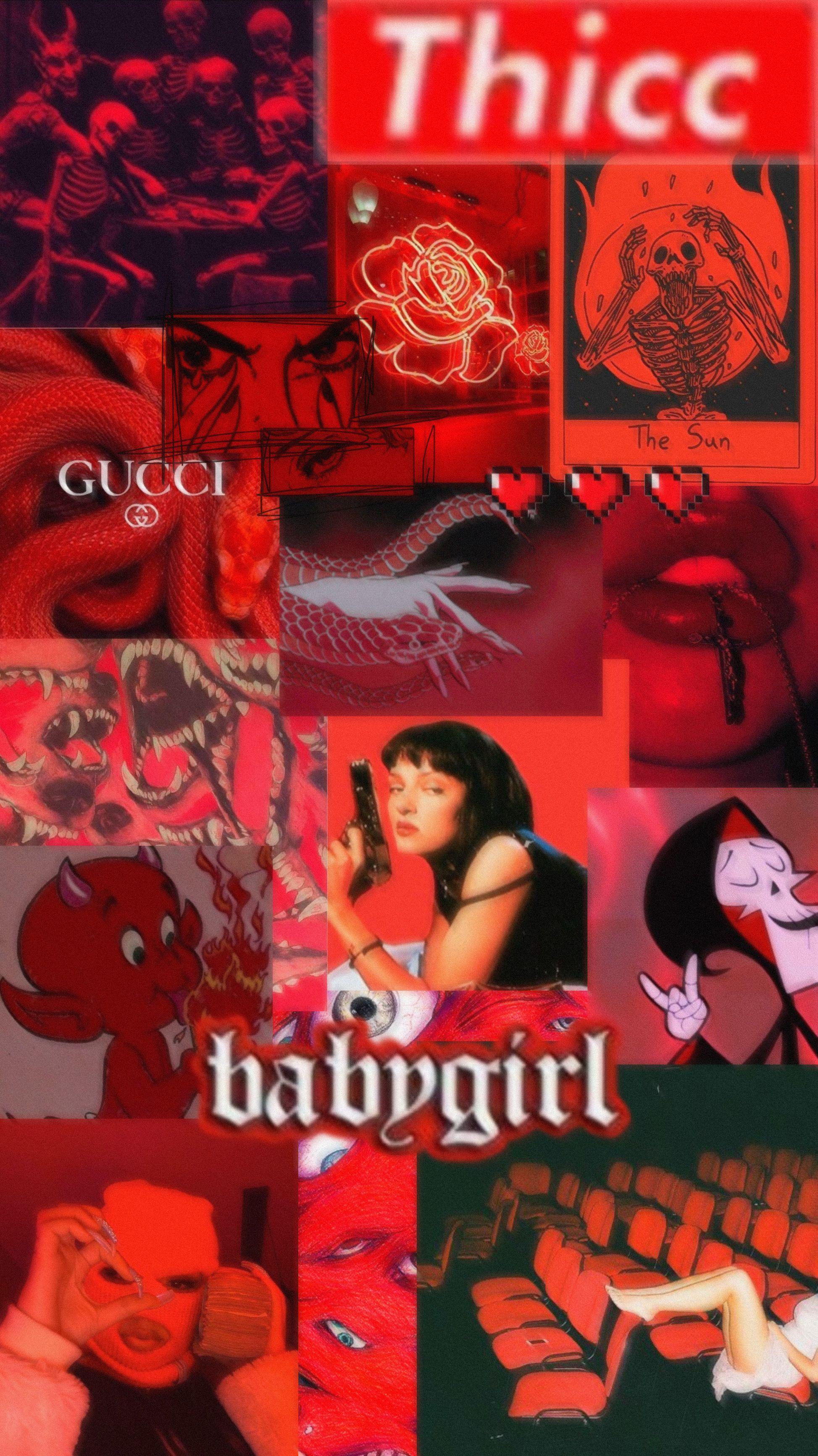 Baddie Wallpapers Black And Red - Pedrocastiilho Neon ...