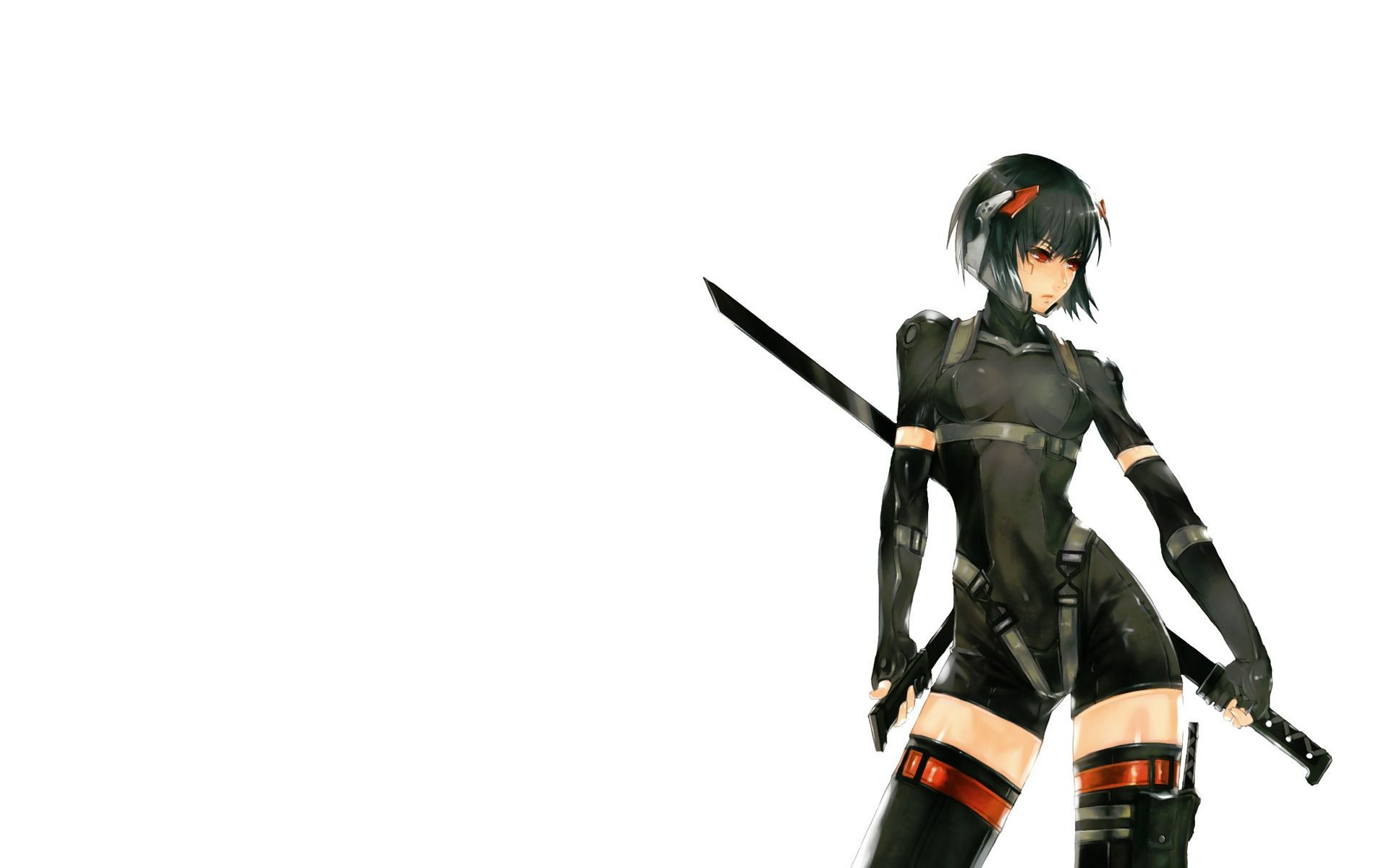 Anime Ninja Girl With Black Hair And Red Eyes  Anime Girl
