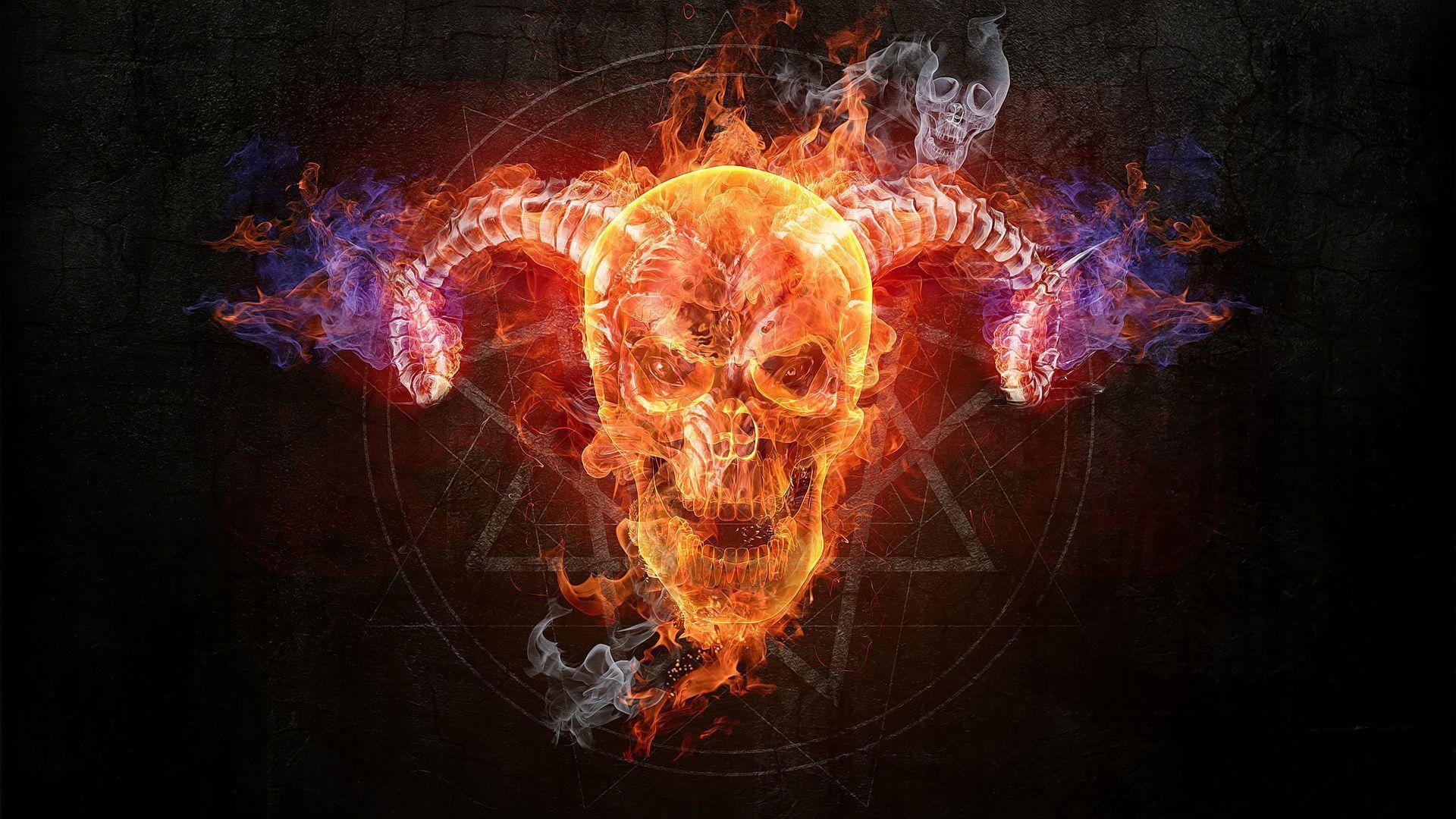 Flaming Skull Wallpapers Top Free Flaming Skull