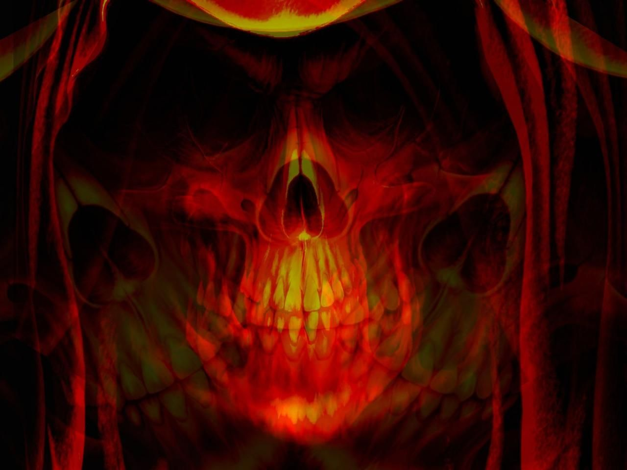 46 Best Free Flaming Skull Wallpapers