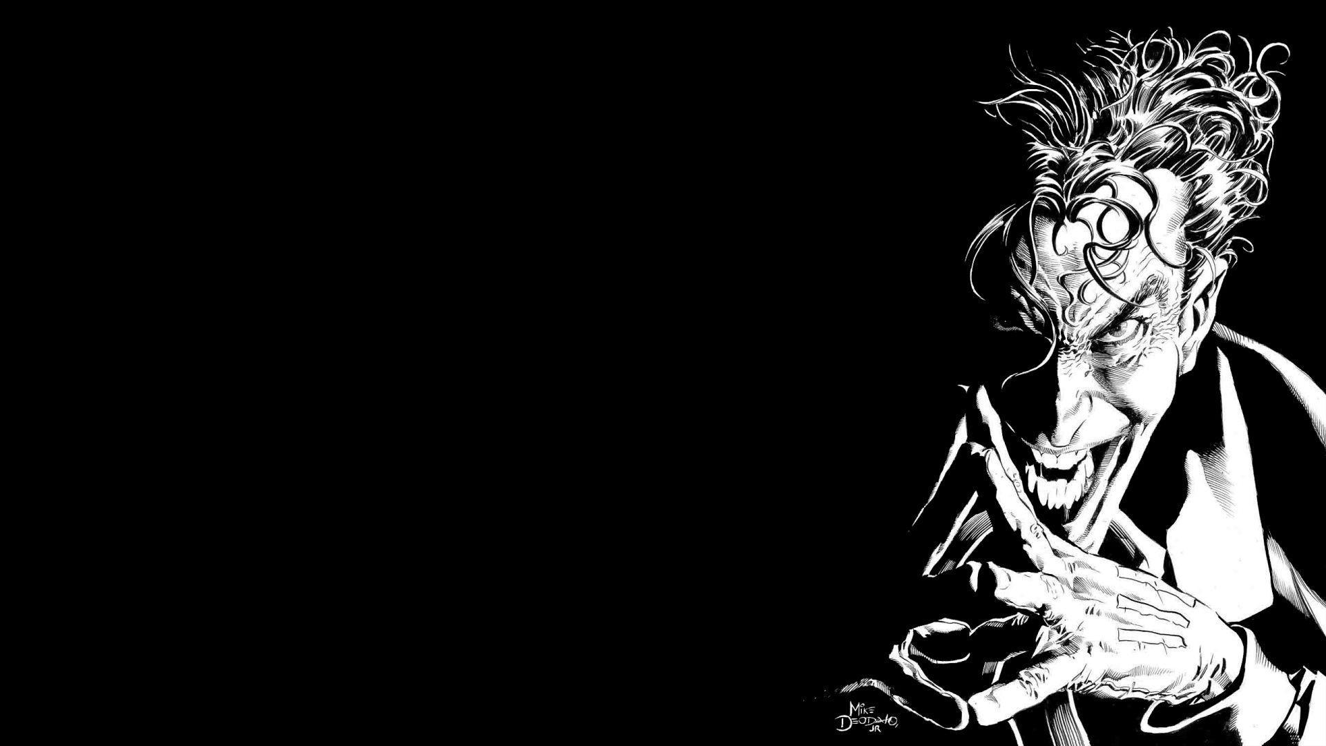 Joker Black And White Wallpapers Top Free Joker Black And