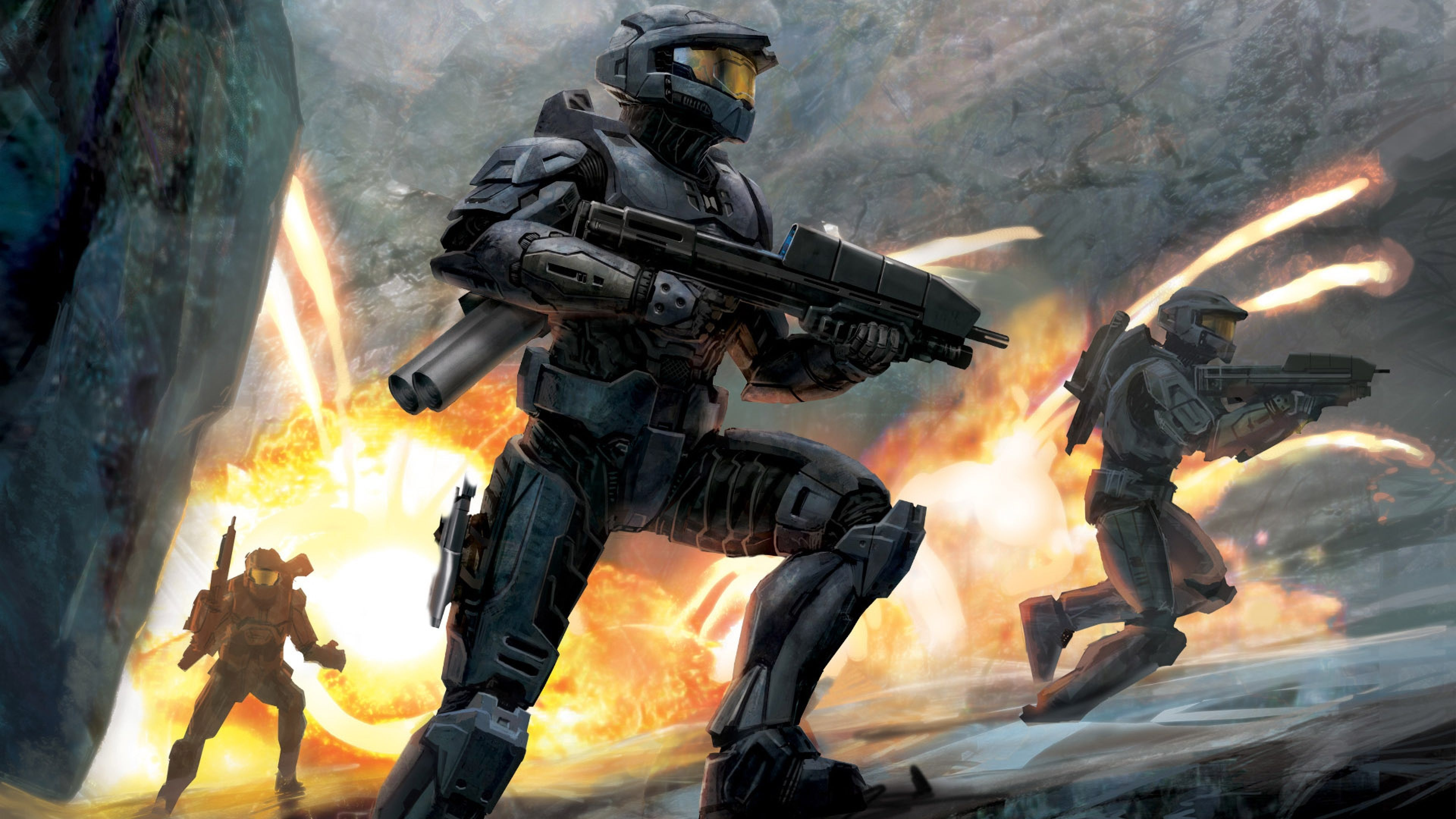 4k Halo Wallpapers Top Free 4k Halo Backgrounds Wallpaperaccess