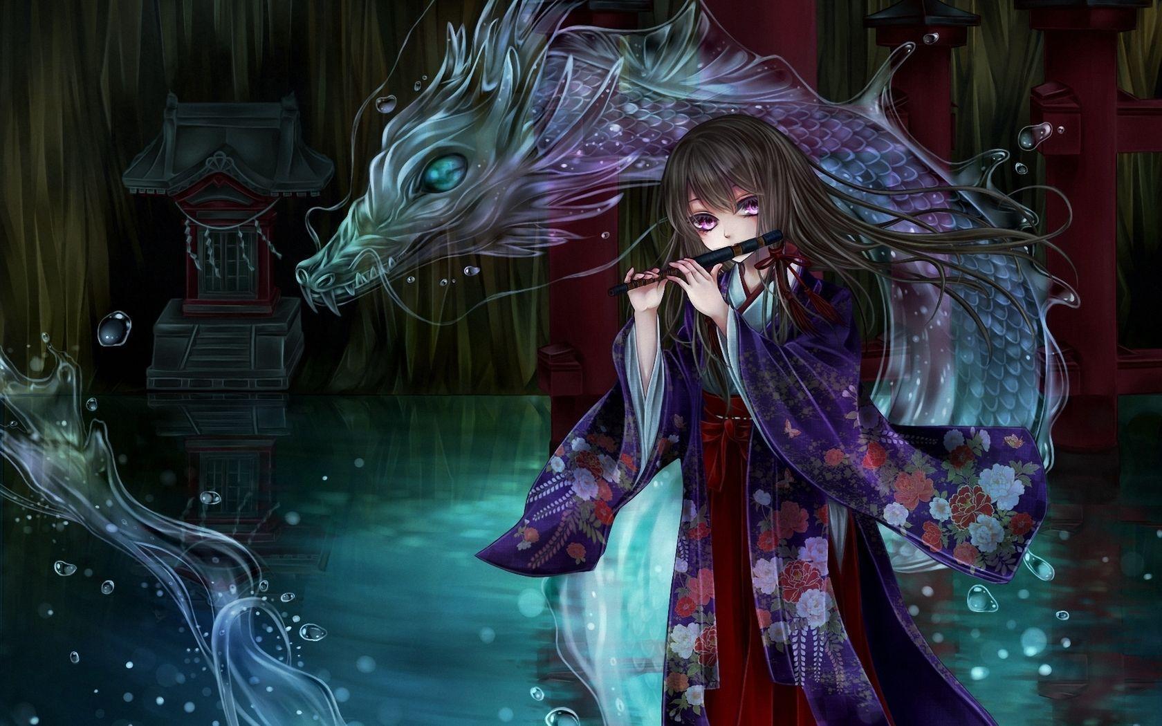 X Anime Dragon Girl Wallpaper Karsik Mix Xd Pinterest Girl