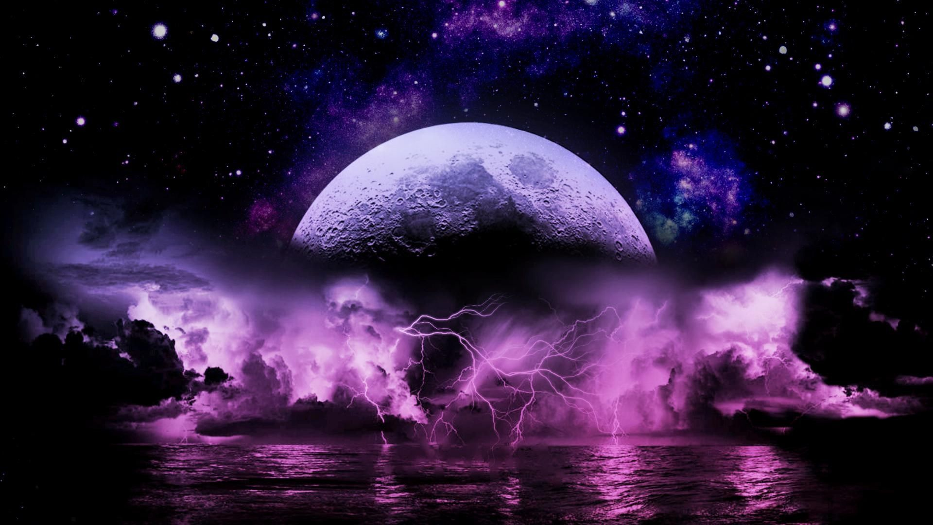 Purple Lightning Wallpapers Top Free Purple Lightning Backgrounds Wallpaperaccess