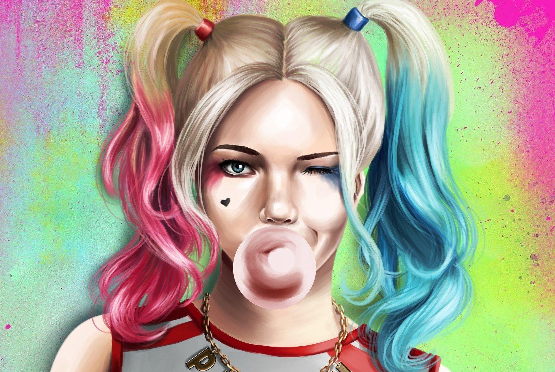 Harley Quinn Art Wallpapers Top Free Harley Quinn Art Backgrounds Wallpaperaccess