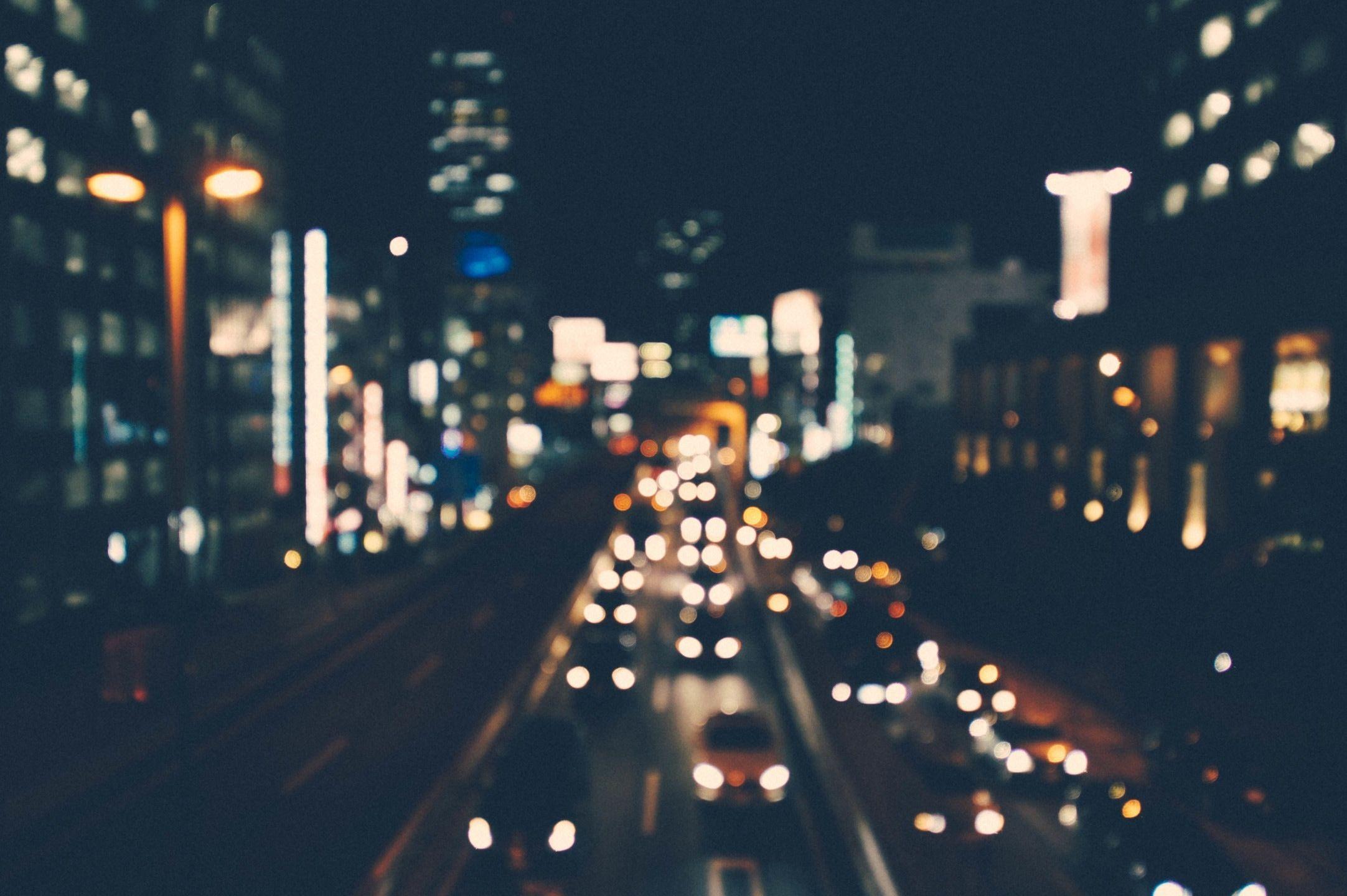 1920x1080 Blurred City Lights Widescreen Background Wallpaper