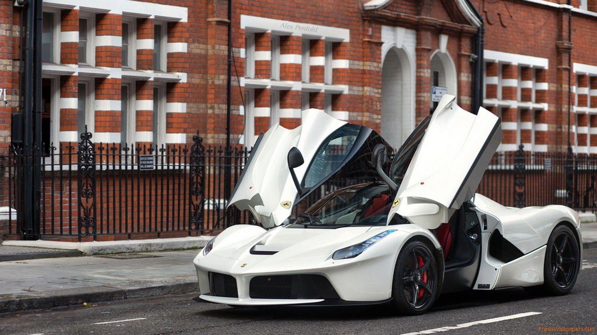 White Ferrari Laferrari Wallpapers Top Free White Ferrari Laferrari Backgrounds Wallpaperaccess