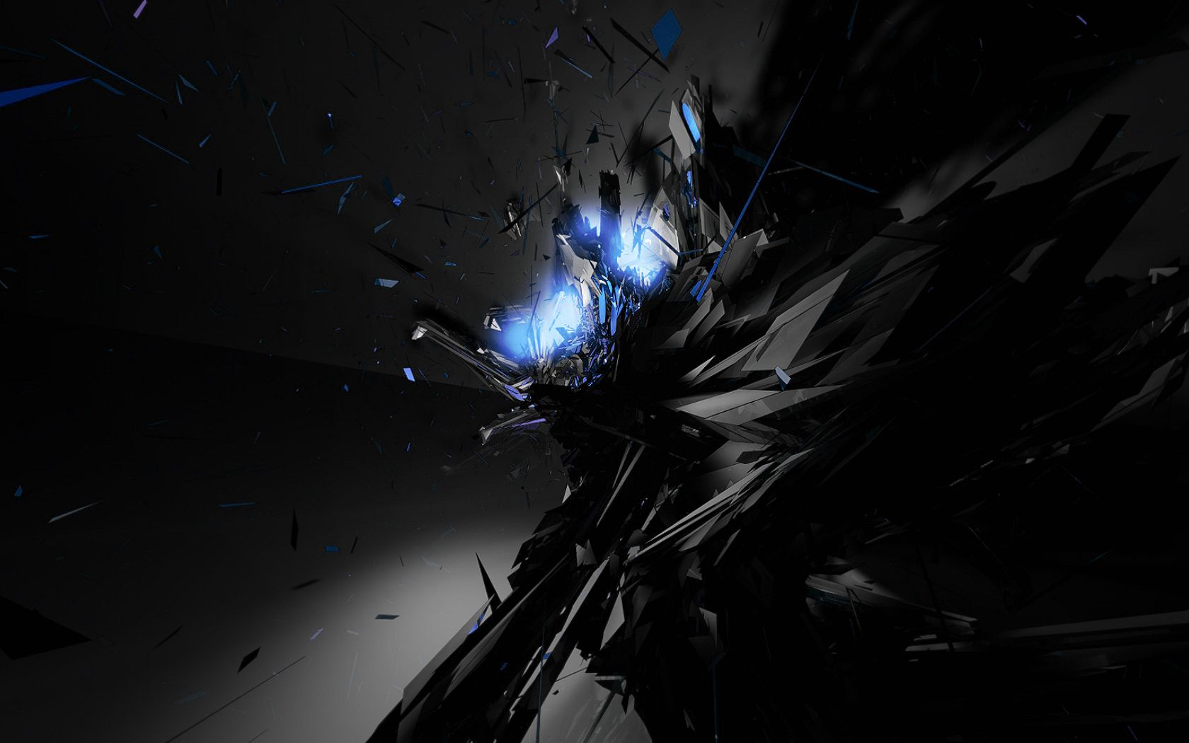Black Abstract Art Background
