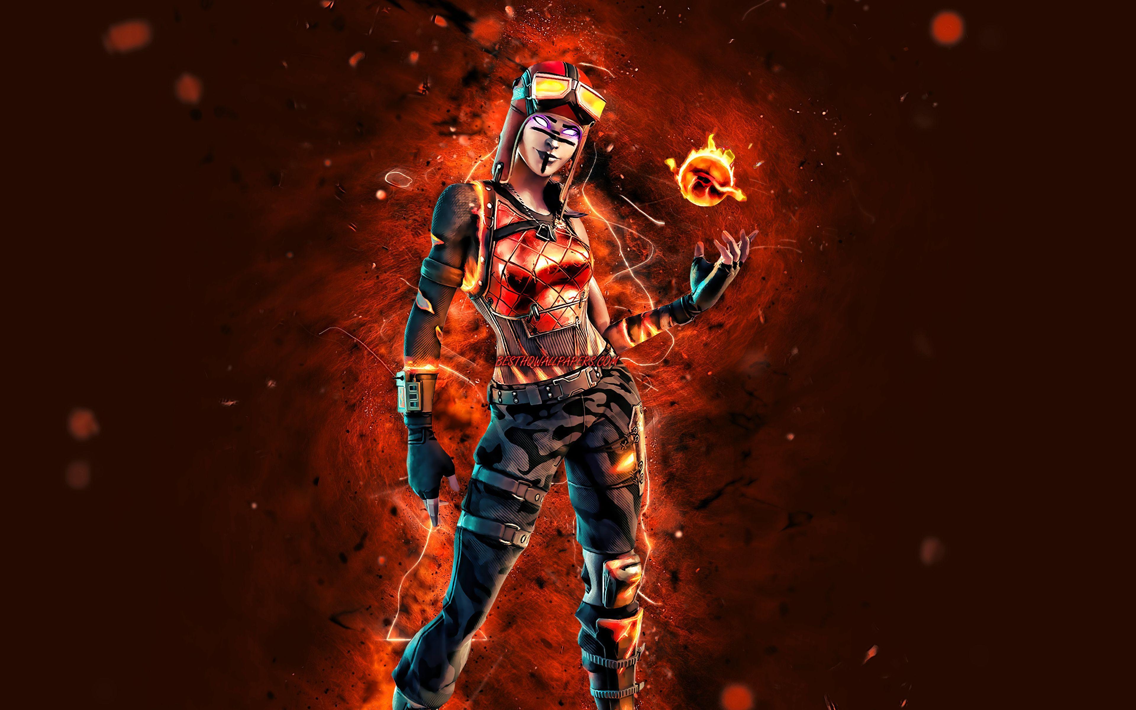 3840x2400 Tải xuống hình nền Blaze, 4k, đèn neon màu cam, trò chơi 2020, Fortnite Battle Royale, các nhân vật trong Fortnite, Blaze Skin, Fortnite, Blaze Fortnite cho máy tính để bàn với độ phân giải 3840x2400.  Hình nền hình ảnh HD chất lượng cao