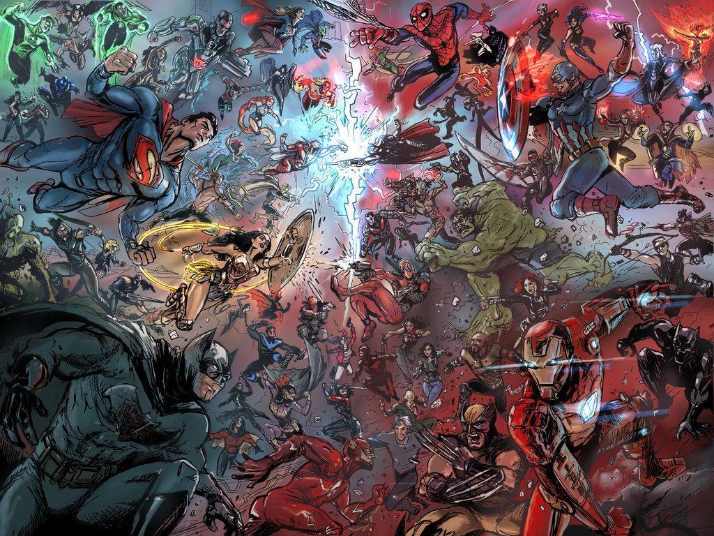 Marvel Vs Dc Universe Wallpapers Top Free Marvel Vs Dc Universe