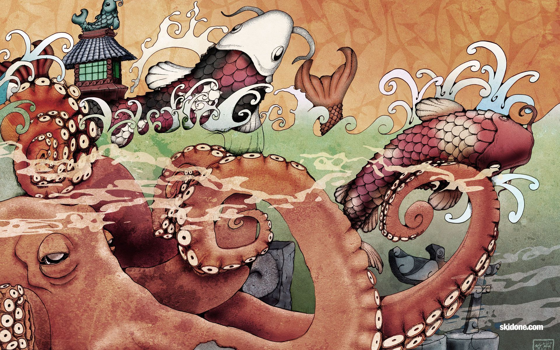 Japanese Koi Art Wallpapers Top Free Japanese Koi Art Backgrounds Wallpaperaccess