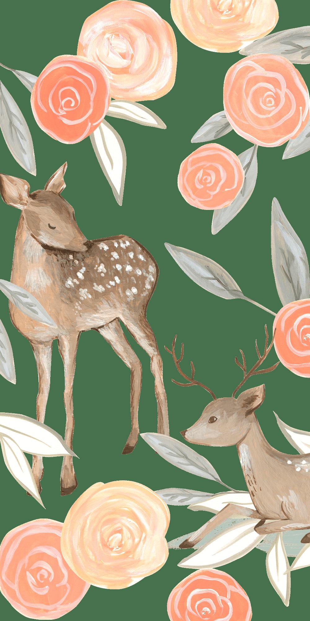 Cartoon Deer Wallpapers - Top Free ...