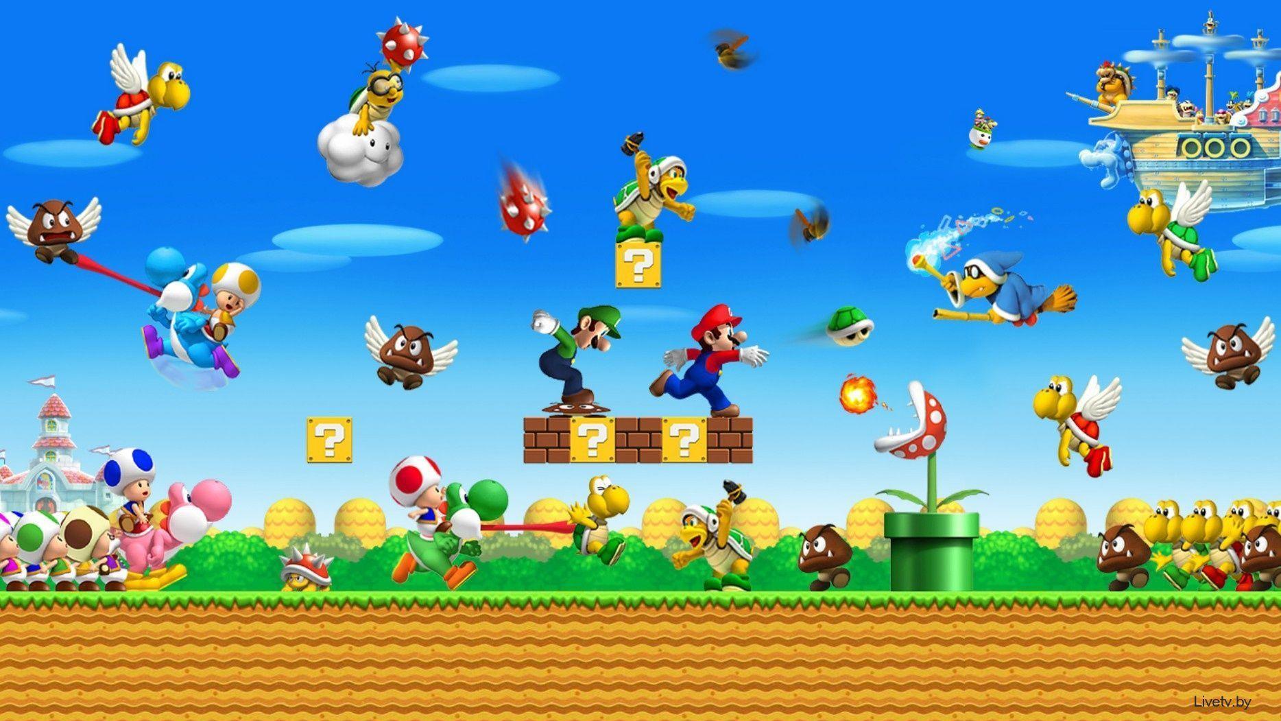 New Super Mario Bros U Wallpapers Top Free New Super Mario Bros