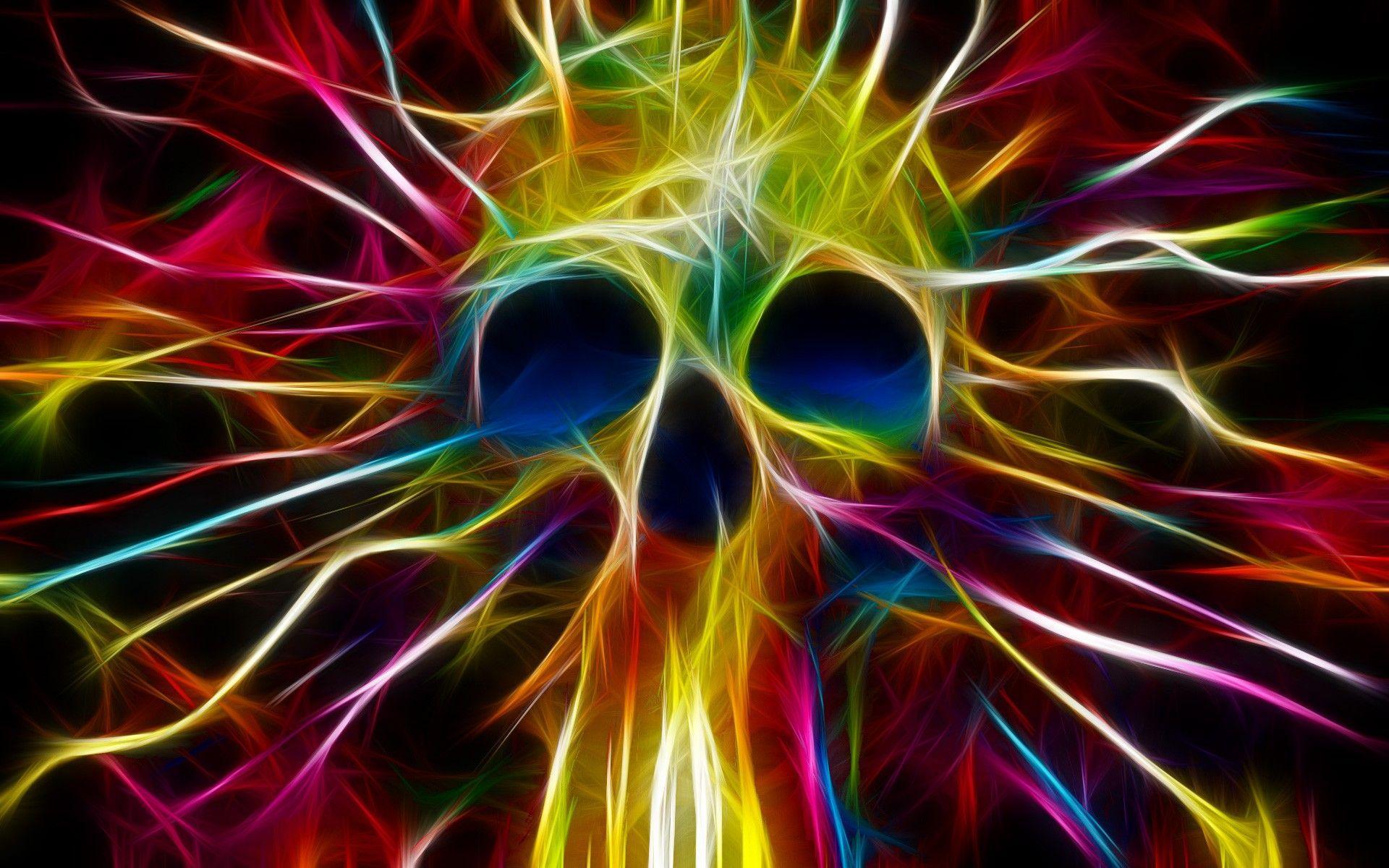 27 Best Free Trippy Skull Wallpapers