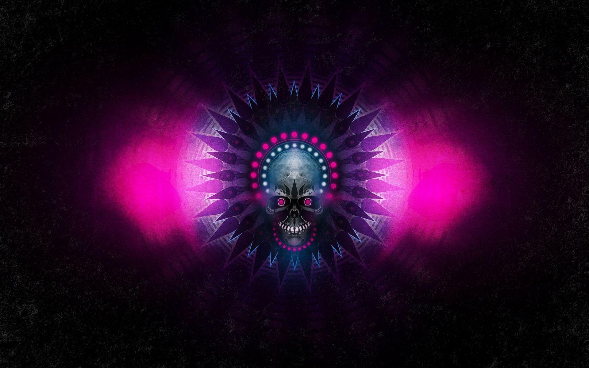 1920x1200 Skull And Music Graffiti Psychedelic Trippy Color Dark