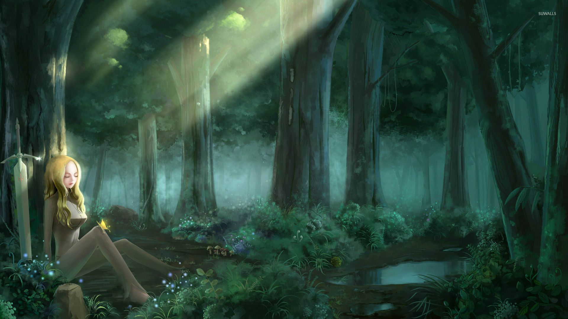 Anime forest wallpapers top free anime forest - Anime forest background ...