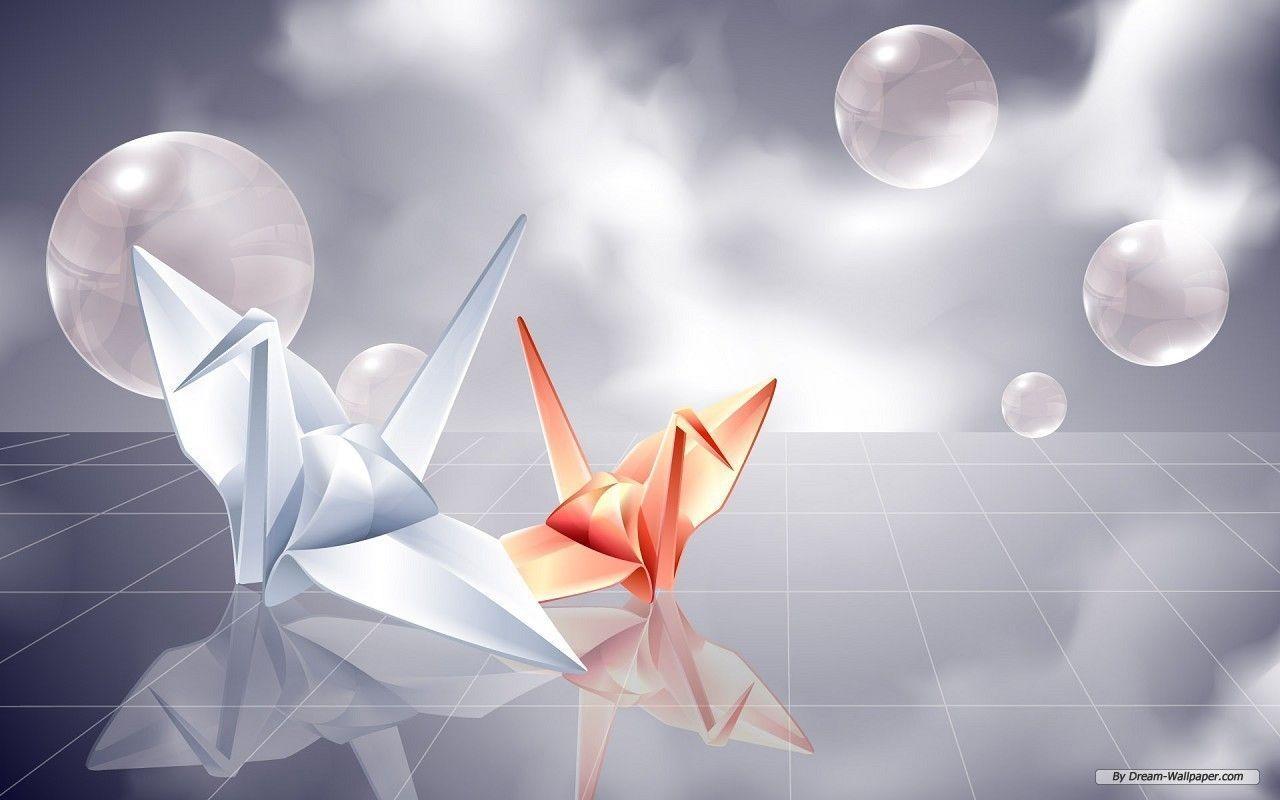 Origami Crane Wallpapers Top Free Origami Crane Backgrounds Wallpaperaccess