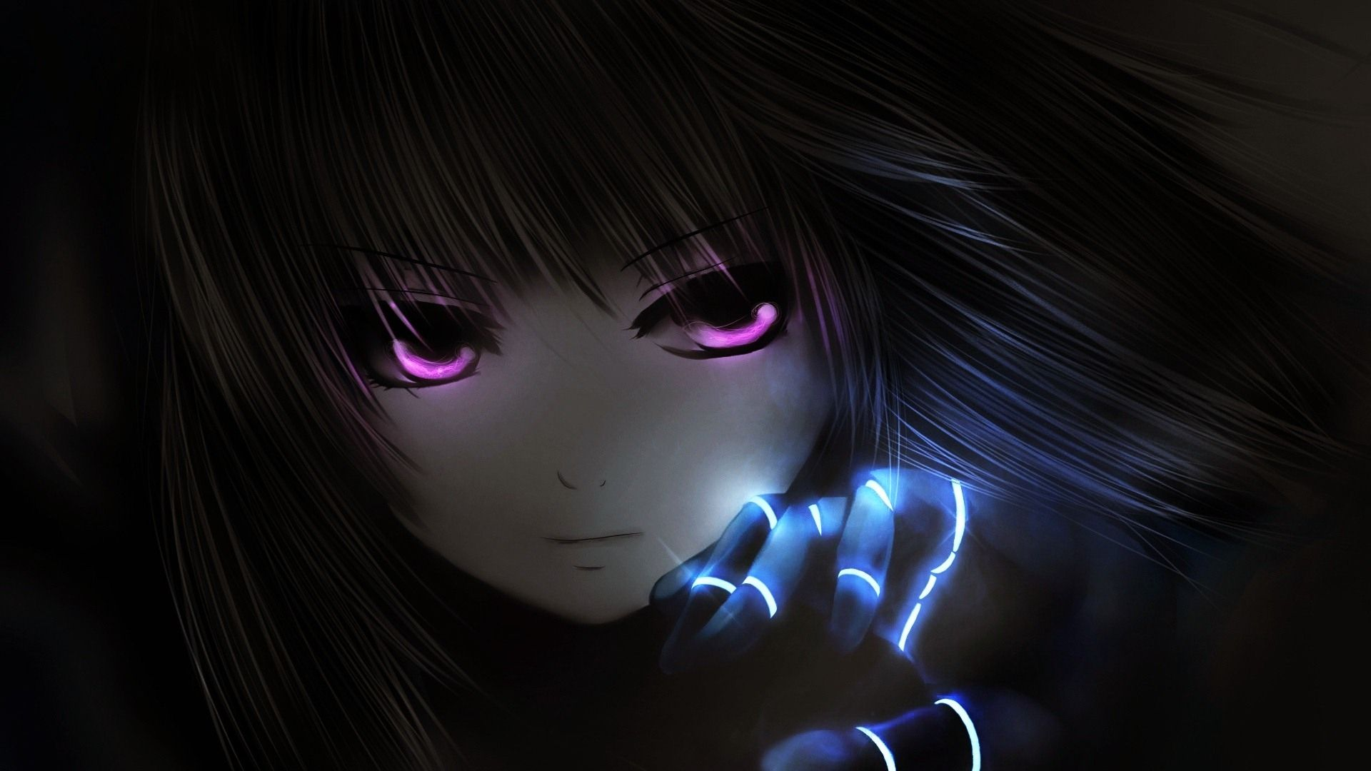 Black anime girl wallpapers top free black anime girl - Dark anime background ...