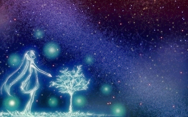 Starry night sky wallpapers top free starry night sky - Anime sky background ...