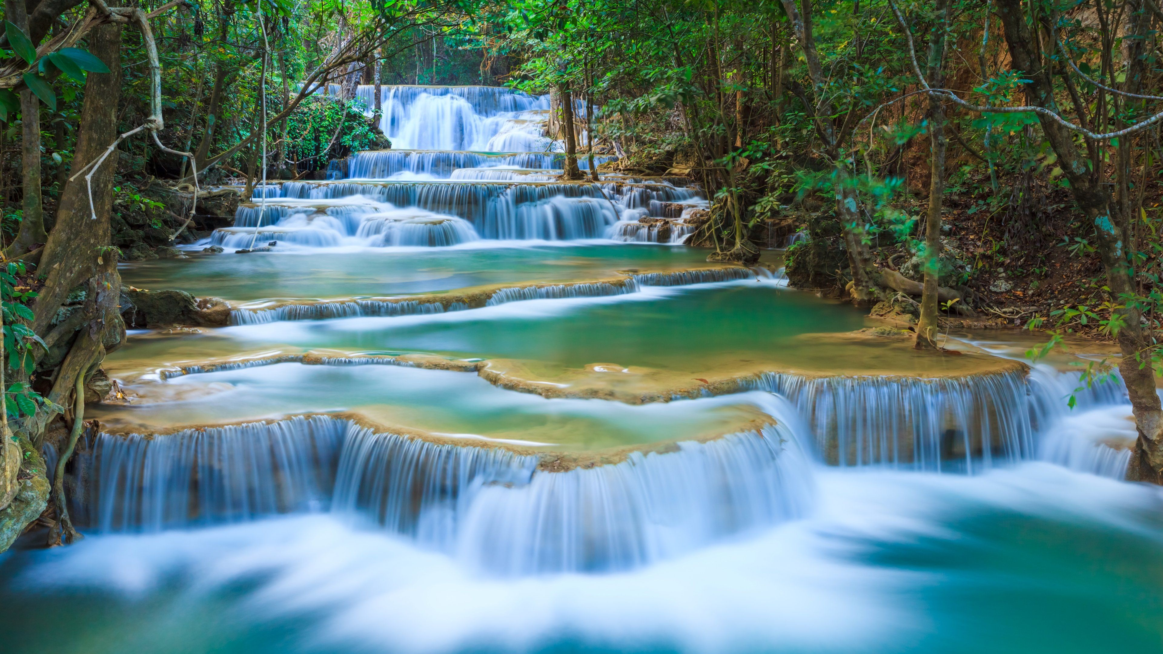 Waterfall Nature Wallpapers Top Free Waterfall Nature Backgrounds Wallpaperaccess