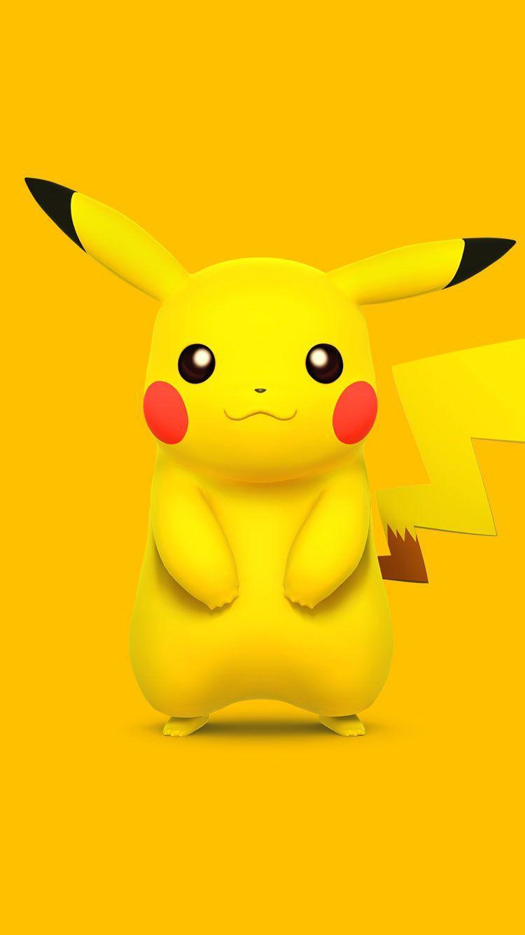 750x1334 Pokemon-Pikachu-iPhone-6-Wallpaper | ปิก๊าจู | Pinterest