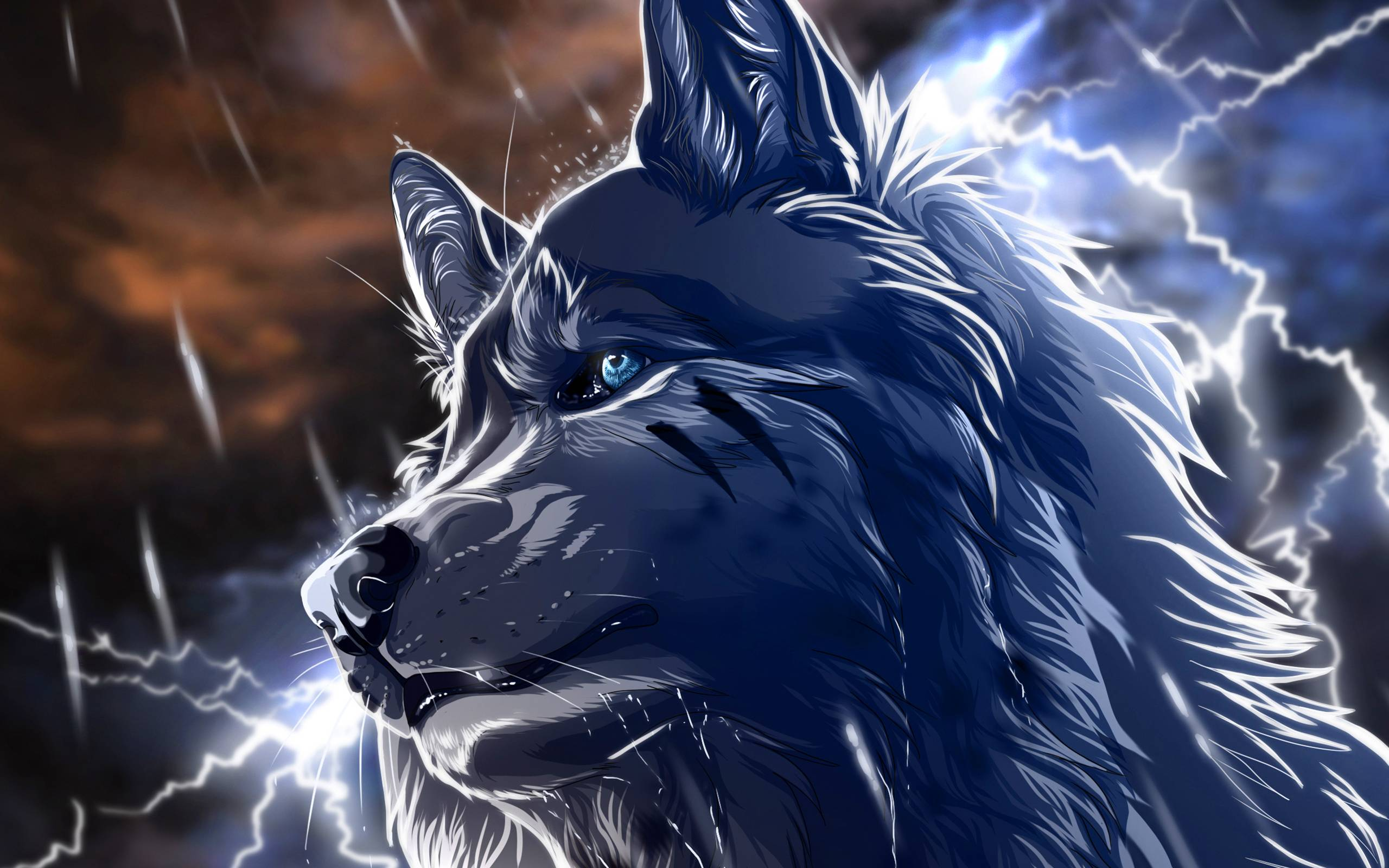 Anime Wolf Wallpapers Top Free Anime Wolf Backgrounds Wallpaperaccess