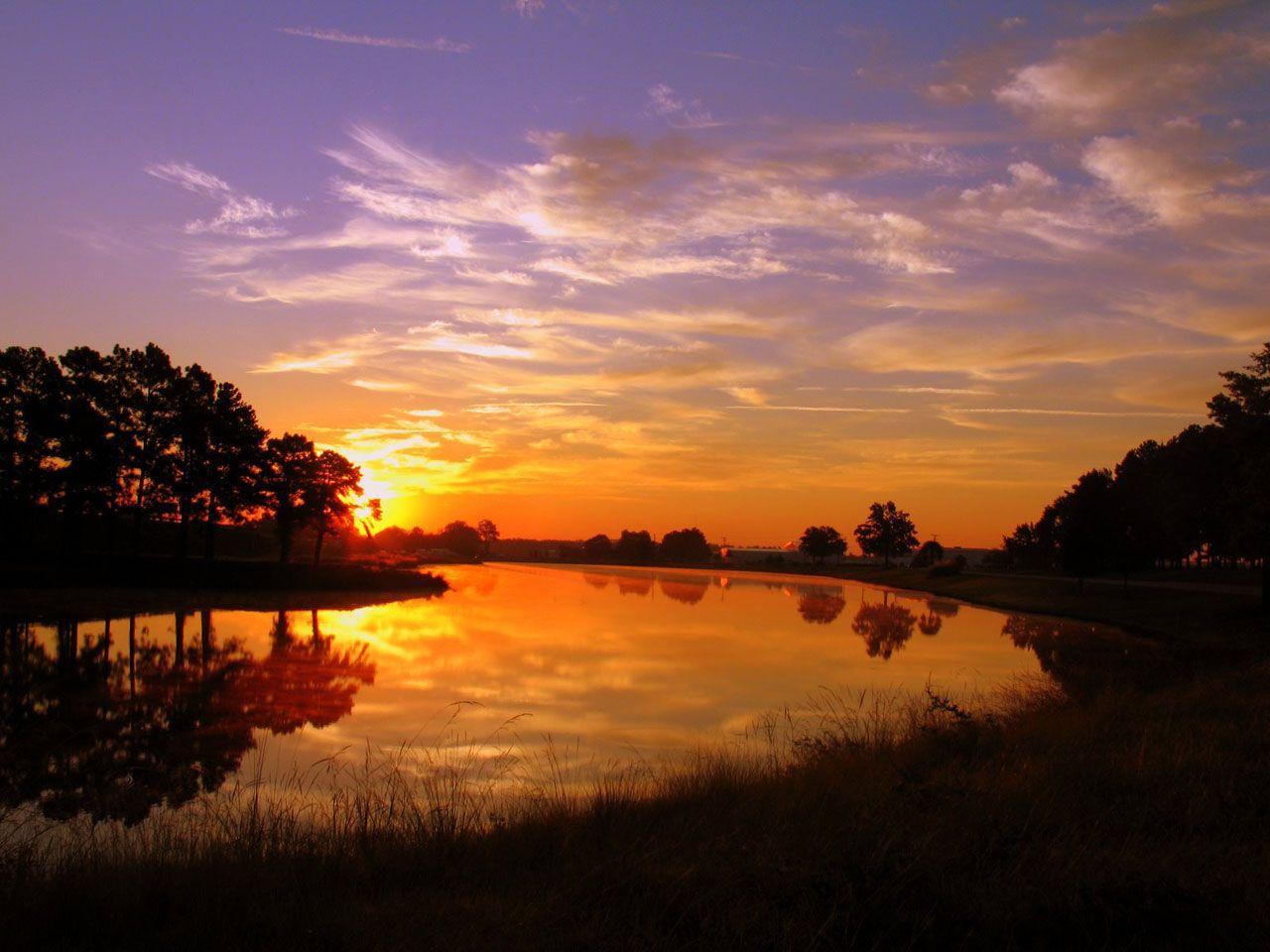 Hình nền mặt trời mọc gần biển 1280x960