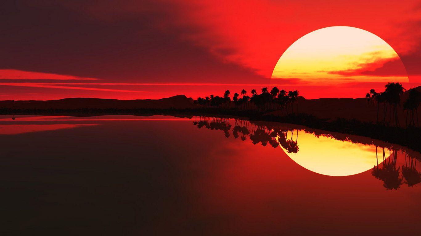 1366x768 Hình nền HD đẹp nhất về thiên nhiên trên mặt trời mọc Độ phân giải cao
