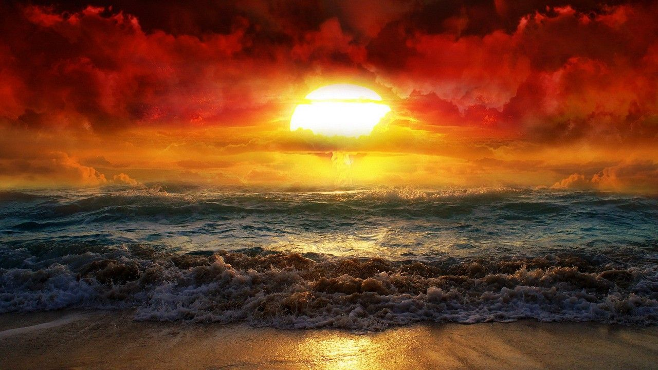 1280x720 Hình ảnh thiên nhiên đẹp nhất của Mặt trời mọc HD Pics Photo Widescreen với