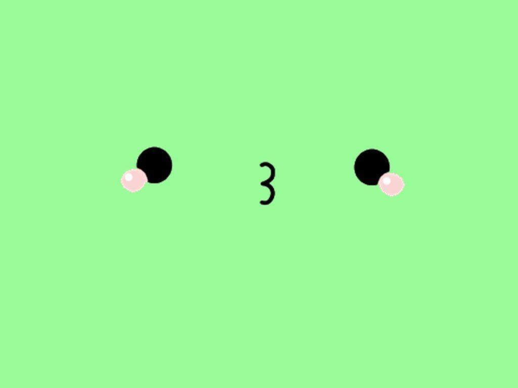 Hình nền Kawaii màu xanh lá cây dễ thương 1024x768